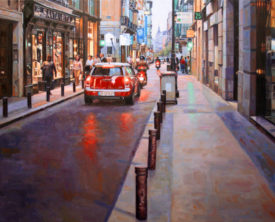 Calle Barquillo. Madrid |Pintura de BALSERA | Compra arte en Flecha.es