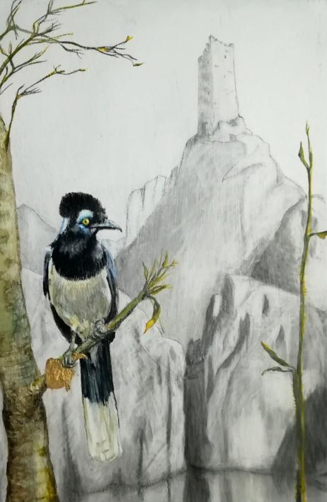 Ladrón de oro. |Dibujo de Rosario Rodriguez | Compra arte en Flecha.es