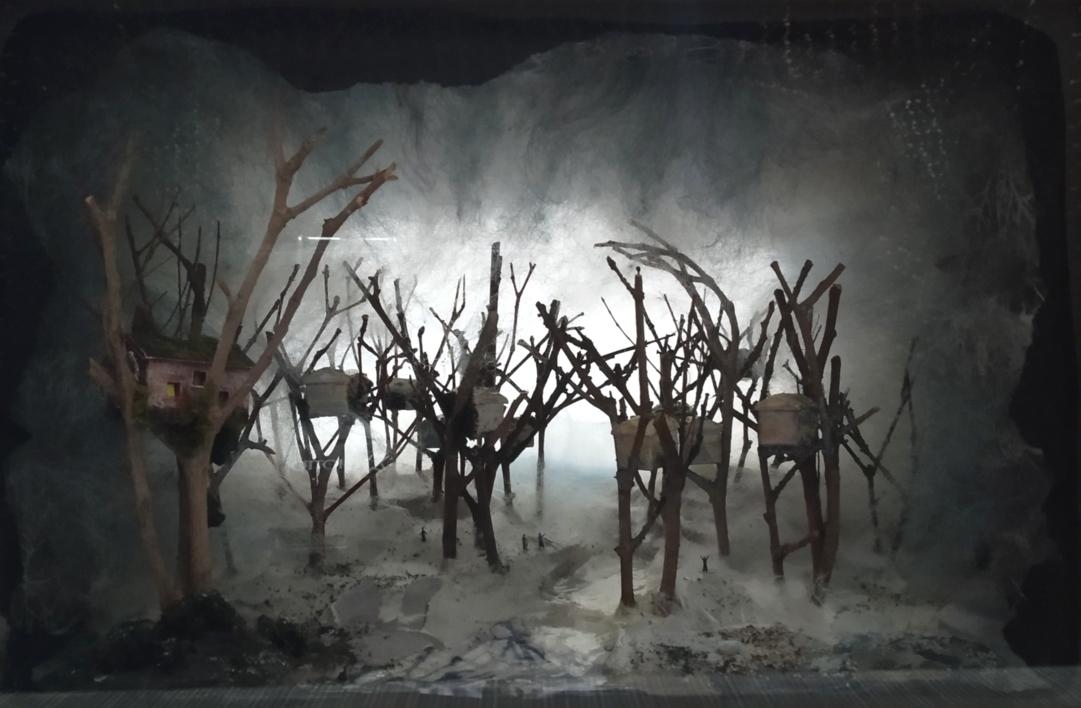 Caja de las casas en los arboles. |Collage de Rosario Rodriguez | Compra arte en Flecha.es