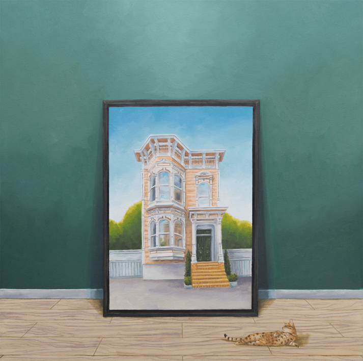 La Conversación II |Pintura de Rosa Alamo | Compra arte en Flecha.es