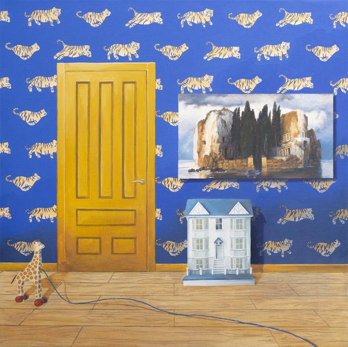 La Habitación Azul de la Isla de Los Muertos |Pintura de Rosa Alamo | Compra arte en Flecha.es