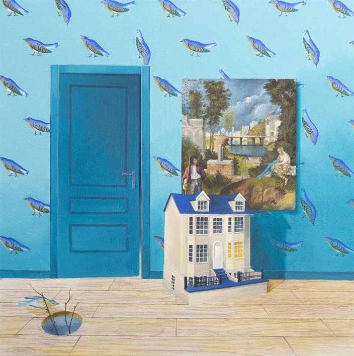 La Habitación Turquesa de La Tempestad |Pintura de Rosa Alamo | Compra arte en Flecha.es