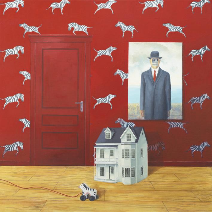 La Habitación Roja del Hijo del Hombre |Pintura de Rosa Alamo | Compra arte en Flecha.es