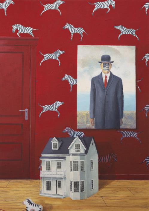 La Habitación Roja del Hijo del Hombre | Pintura de Rosa Alamo | Compra arte en Flecha.es