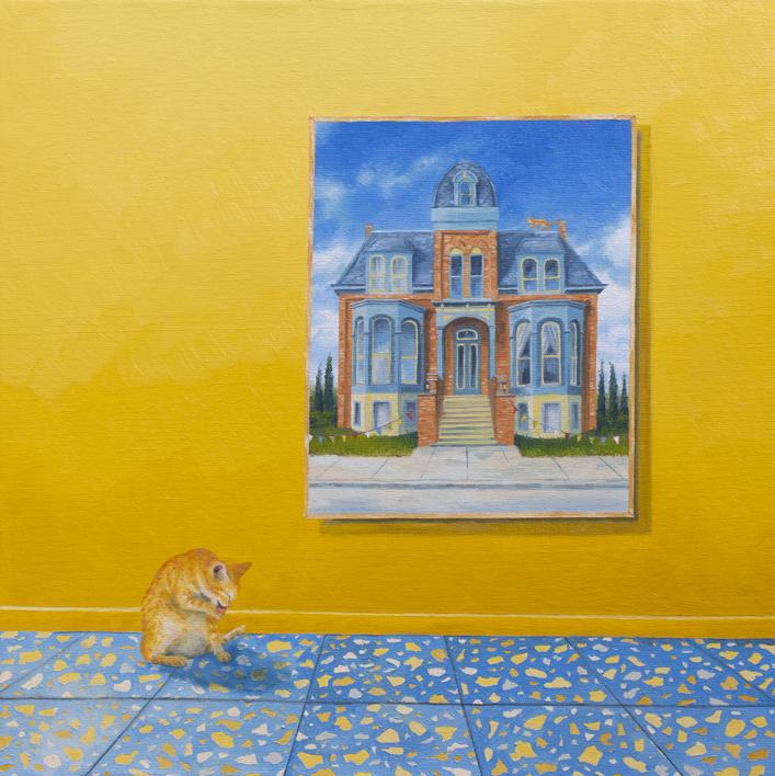 El Gato Amarillo |Pintura de Rosa Alamo | Compra arte en Flecha.es