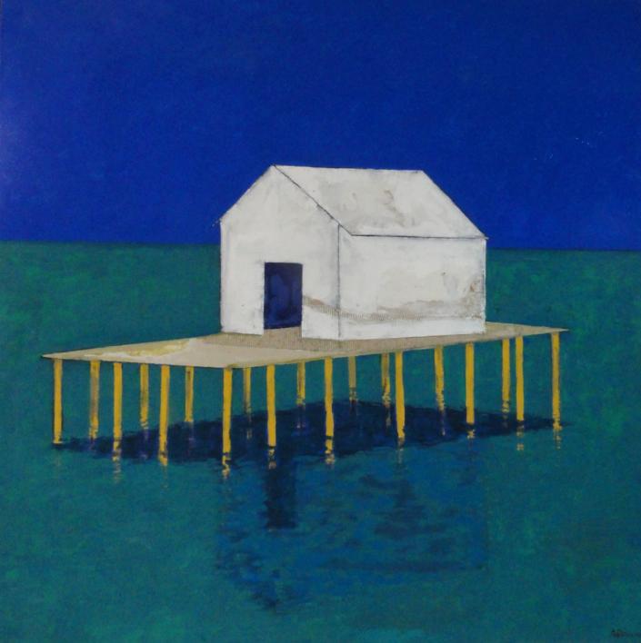 Palafito |Pintura de Ana Pellón | Compra arte en Flecha.es