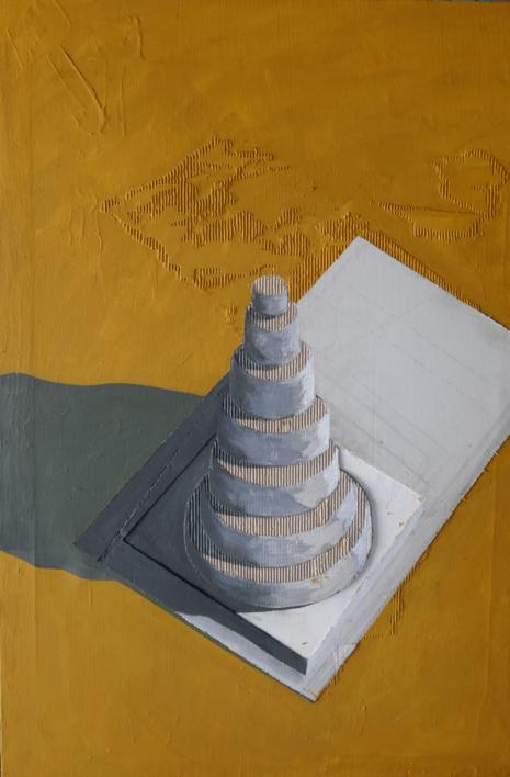 Zigurat |Pintura de Ana Pellón | Compra arte en Flecha.es