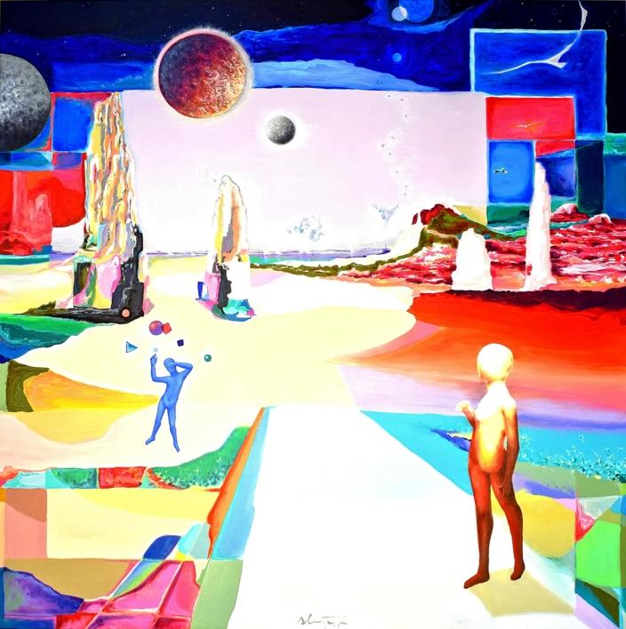 Permanece en estos caminos |Pintura de ALEJOS | Compra arte en Flecha.es