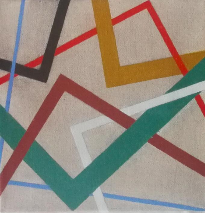Cromatismo Geométrico VI  Pintura de Verónica Bustamante Loring   Compra arte en Flecha.es