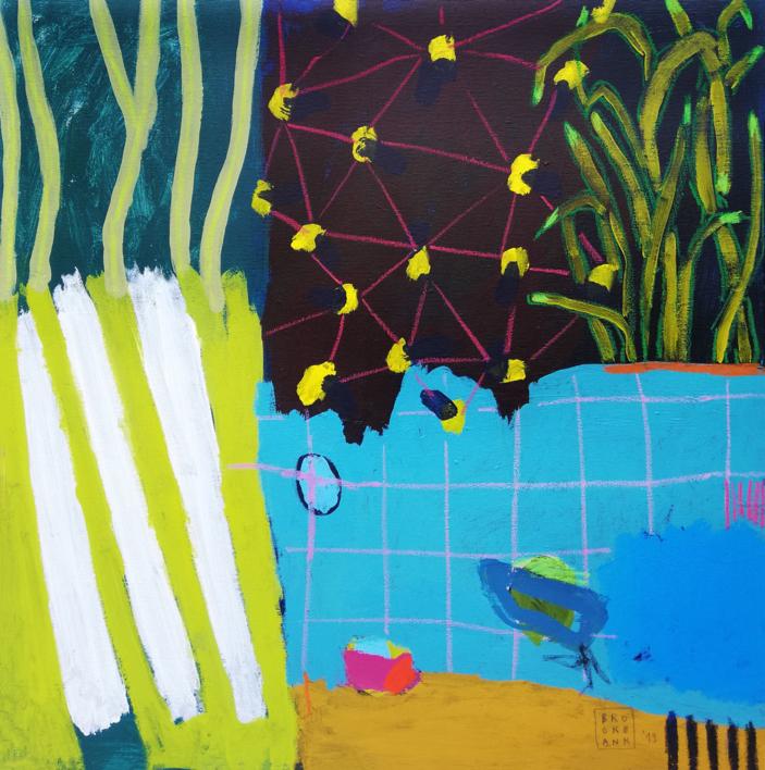 Acuario |Pintura de Ana Cano Brookbank | Compra arte en Flecha.es