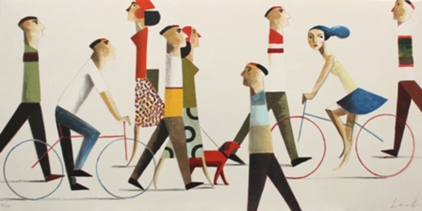 WALK THE DOG |Obra gráfica de Didier Lourenço | Compra arte en Flecha.es