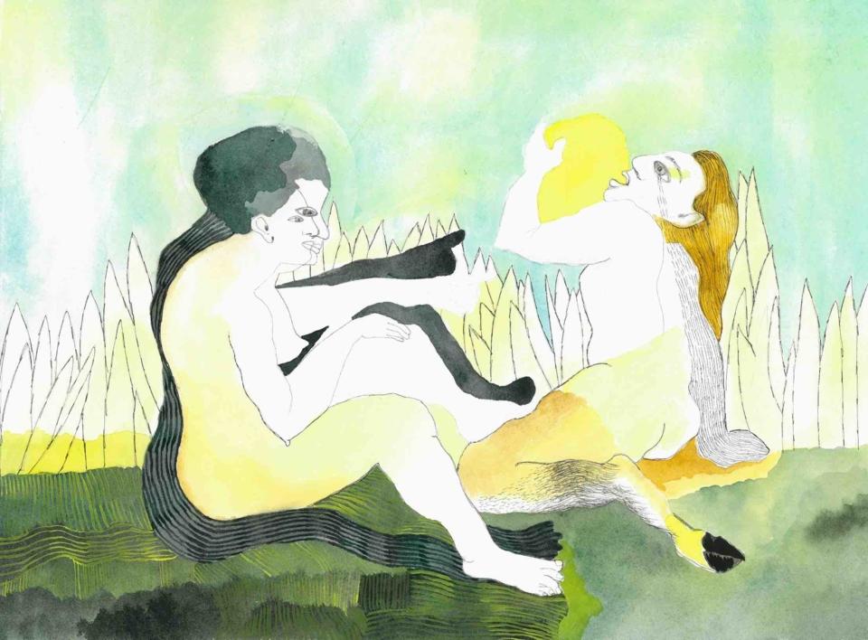 Chorar o sol |Dibujo de Reme Remedios | Compra arte en Flecha.es
