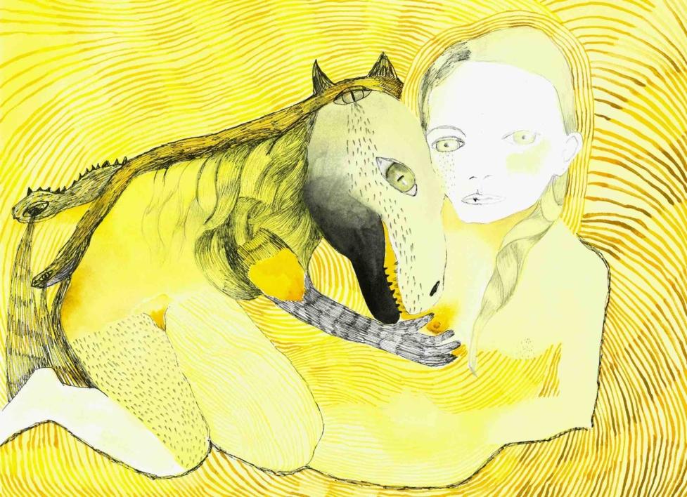 Chorar un lagarto |Dibujo de Reme Remedios | Compra arte en Flecha.es