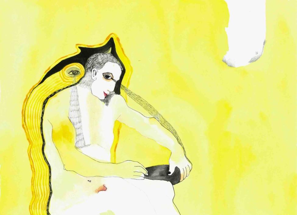 Chorar o escrito |Dibujo de Reme Remedios | Compra arte en Flecha.es