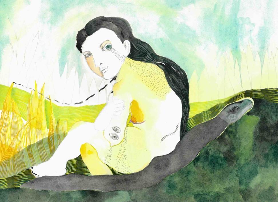 Chorar o demo |Dibujo de Reme Remedios | Compra arte en Flecha.es