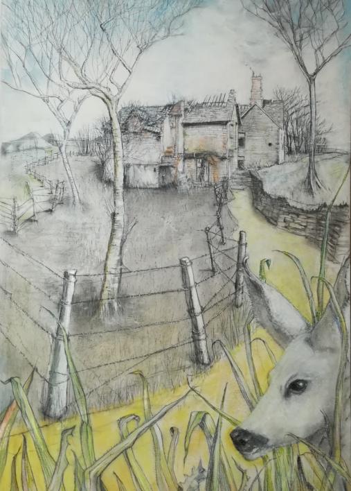 La corza blanca |Dibujo de Rosario Rodriguez | Compra arte en Flecha.es