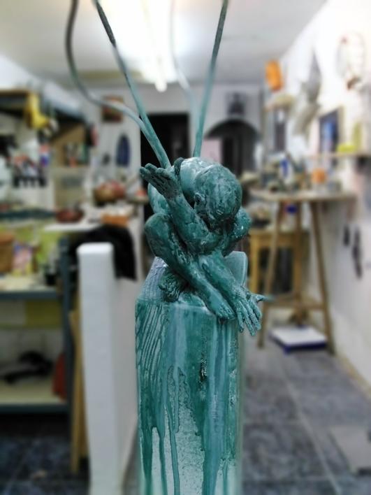 No interrumpáis is sueños. |Escultura de Reula | Compra arte en Flecha.es