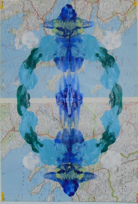 Impronta #24 (Limites acuáticos 3) |Collage de Fabiana Zapata | Compra arte en Flecha.es