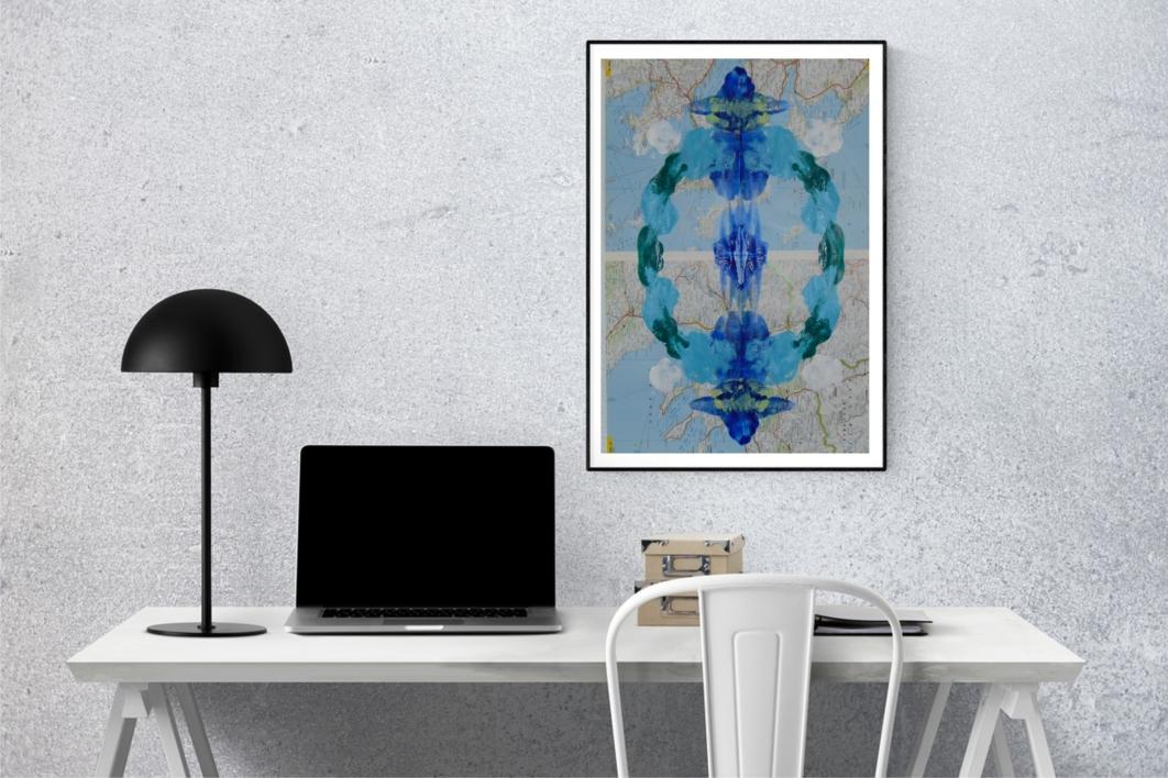 Impronta #24 (Limites acuáticos 3) | Collage de Fabiana Zapata | Compra arte en Flecha.es