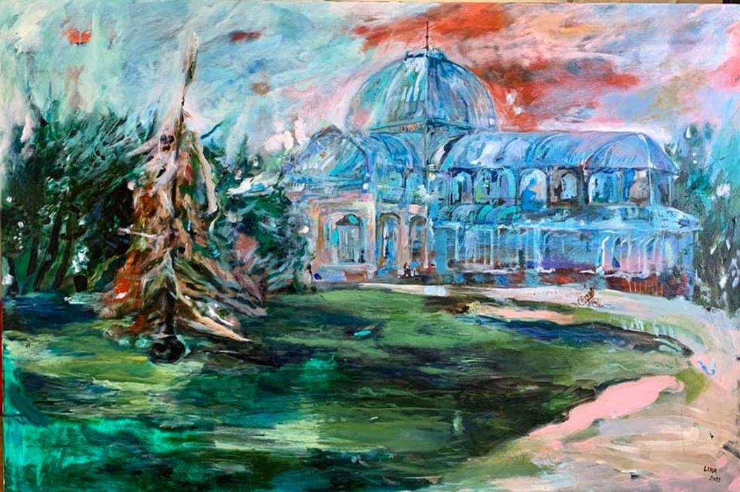 Palacio  Crystal |Pintura de Lika Shkhvatsabaia | Compra arte en Flecha.es