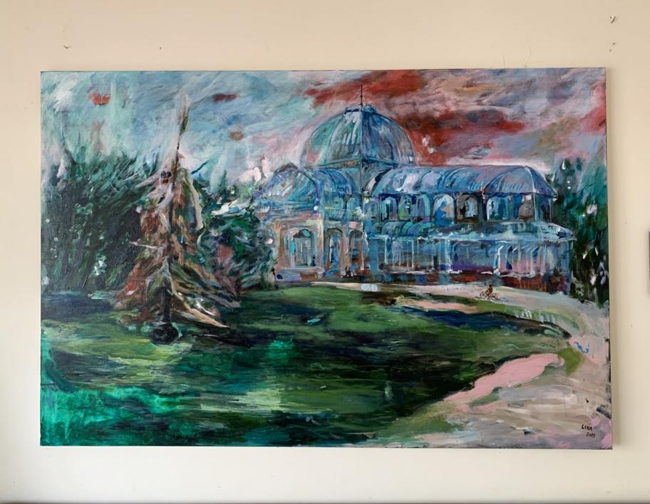 Palacio  Crystal | Pintura de Lika Shkhvatsabaia | Compra arte en Flecha.es