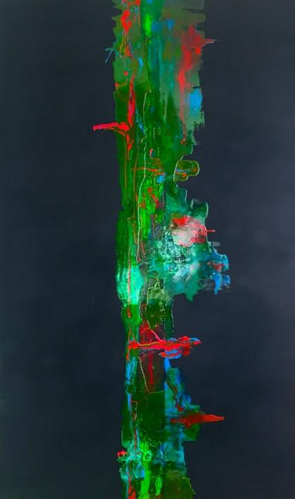 VERDE Y NOCHE |Pintura de ALFREDO MOLERO DOVAL | Compra arte en Flecha.es