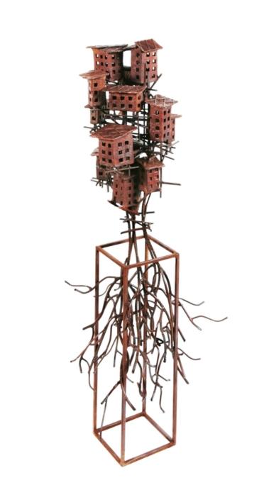 """""""ALDEAS CRECIENTES II"""".  Escultura de Fernando Suárez   Compra arte en Flecha.es"""