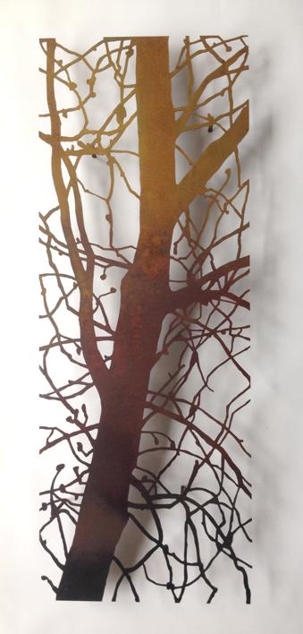 Árbol vertical |Escultura de pared de Charlotte Adde | Compra arte en Flecha.es
