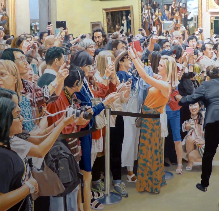 Móviles arriba  I |Pintura de Jose Belloso | Compra arte en Flecha.es