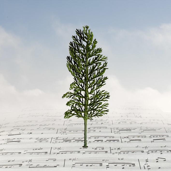 Paisaje en una partitura |Fotografía de Leticia Felgueroso | Compra arte en Flecha.es