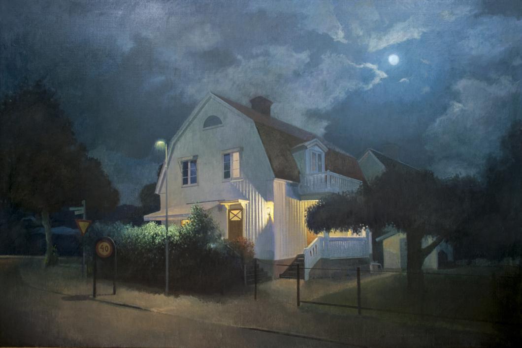 Noche de verano  Pintura de Orrite   Compra arte en Flecha.es