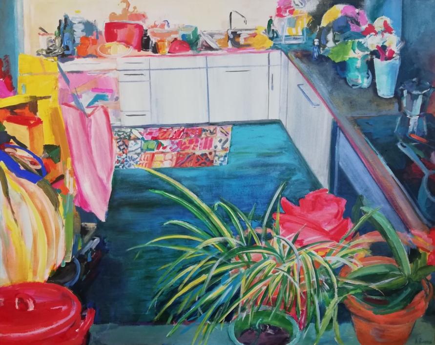 Rosalía |Pintura de Angeli Rivera | Compra arte en Flecha.es