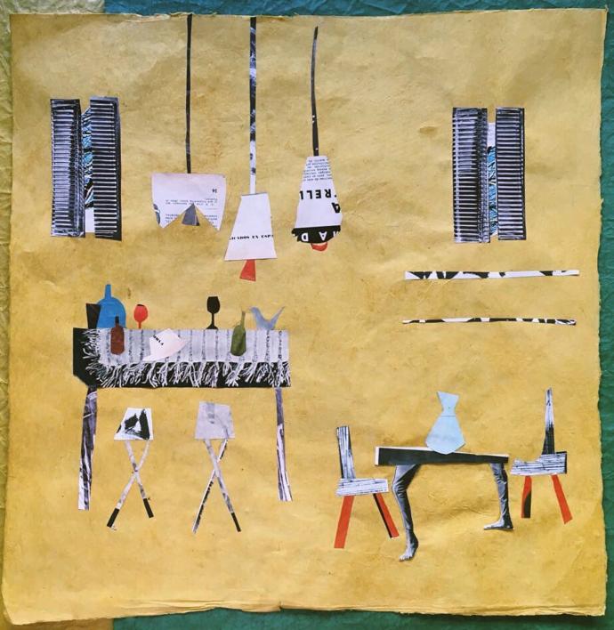 El bar del Cangrejo |Collage de Mero Pil Pil | Compra arte en Flecha.es
