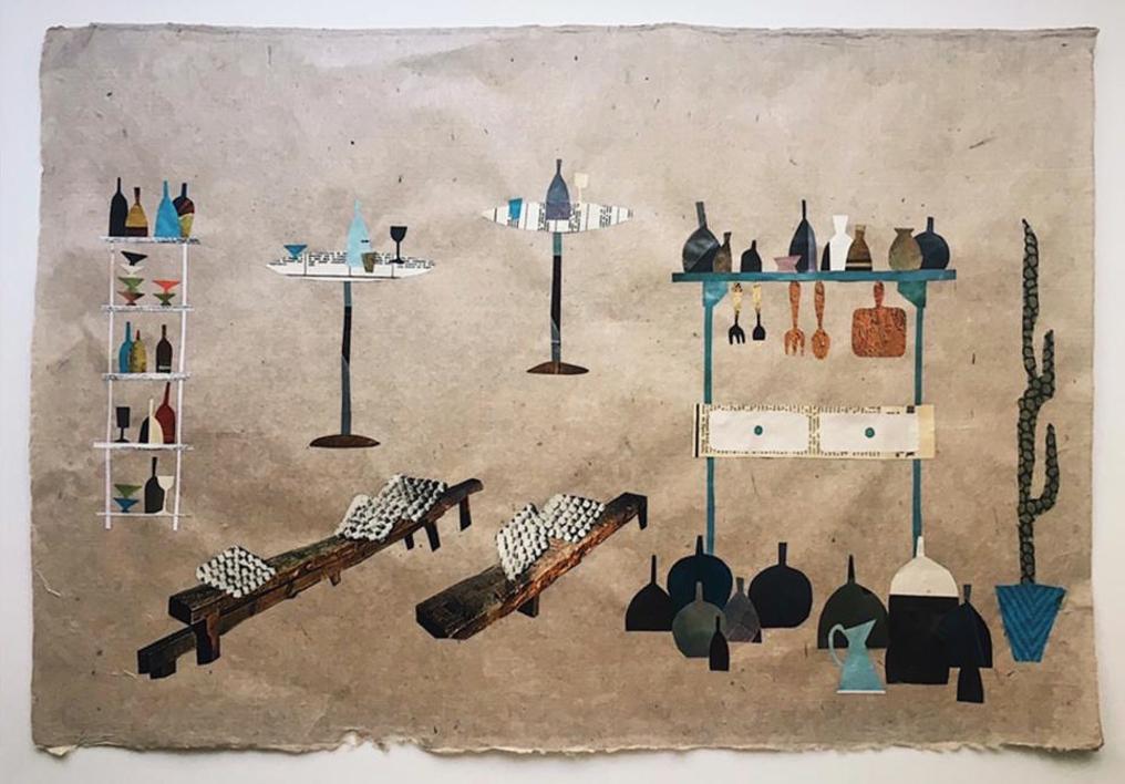 Damajuanas y Vinos |Collage de Mero Pil Pil | Compra arte en Flecha.es
