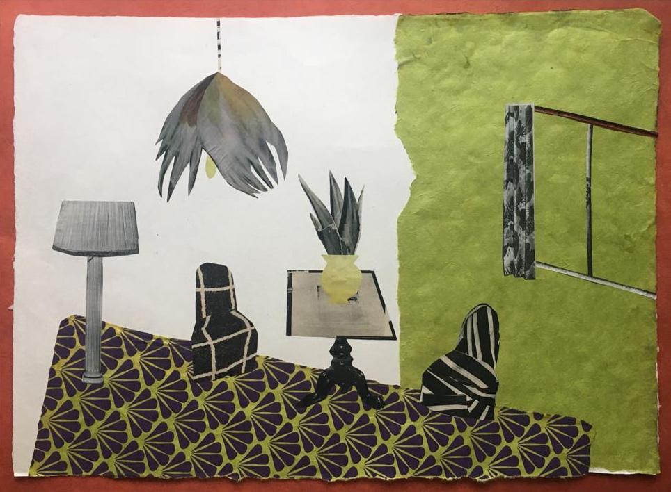 Habitación Pistacho |Collage de Mero Pil Pil | Compra arte en Flecha.es