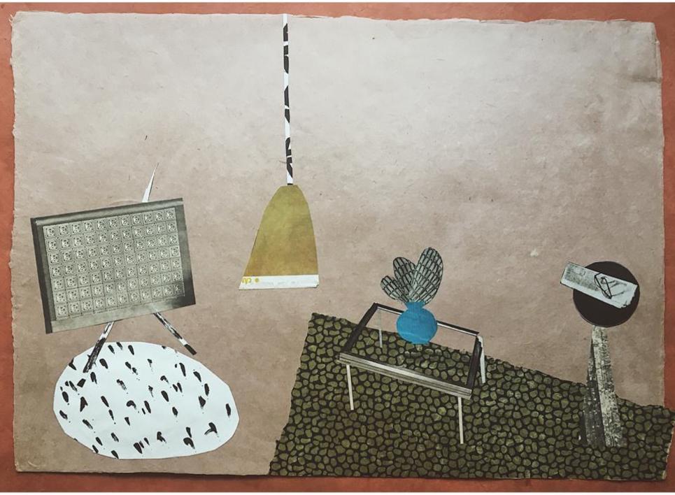 Televisor Estrellado  Collage de Mero Pil Pil   Compra arte en Flecha.es