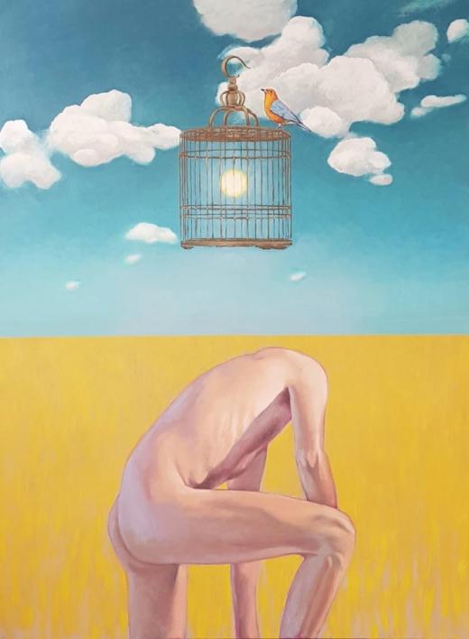 De la extraordinaria y magnifica ausencia de uno mismo |Pintura de Juan Mateo Cabrera | Compra arte en Flecha.es
