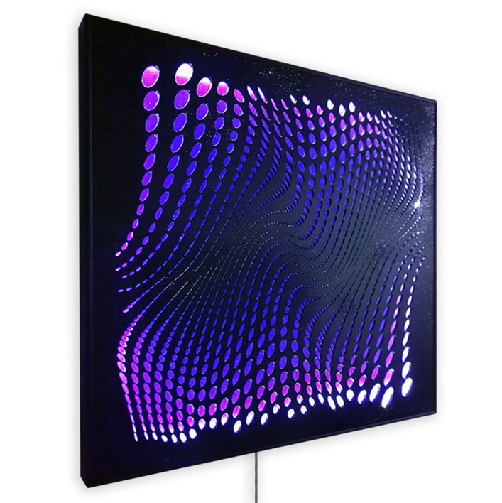THE RIVER (Black/Violet/Led)   Digital de Geometricarte   Compra arte en Flecha.es