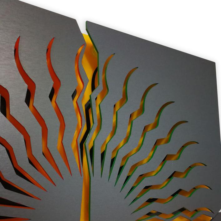 THE SUN | Collage de Geometricarte | Compra arte en Flecha.es