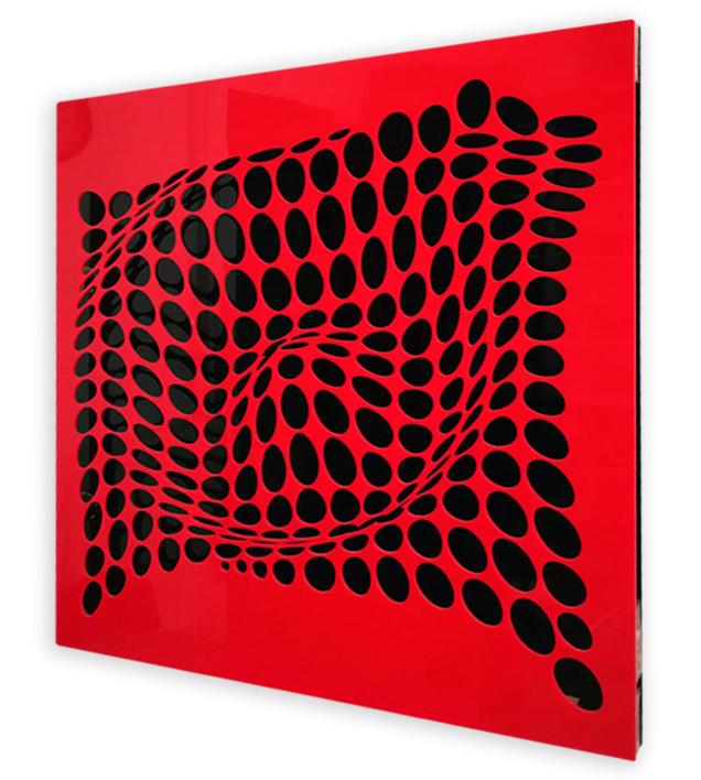 COME INSIDE (Red/Black)   Digital de Geometricarte   Compra arte en Flecha.es