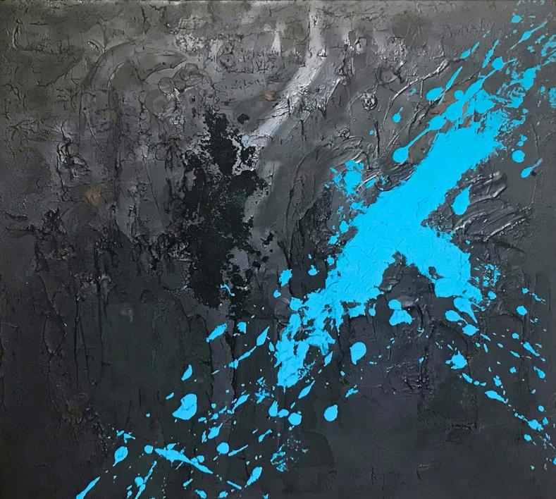 CAOS Y AZUL |Pintura de ALFREDO MOLERO DOVAL | Compra arte en Flecha.es