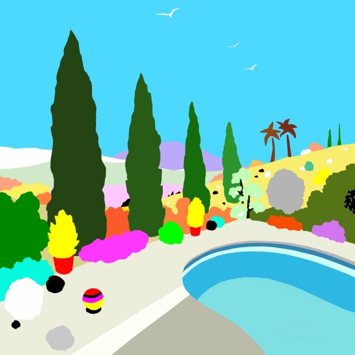 La piscina |Dibujo de ALEJOS | Compra arte en Flecha.es