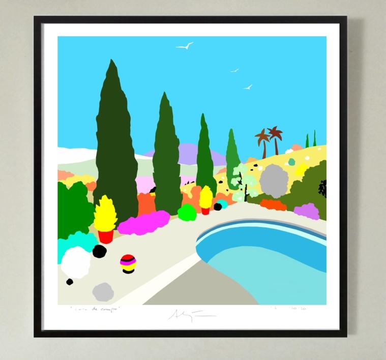 La piscina | Dibujo de ALEJOS | Compra arte en Flecha.es