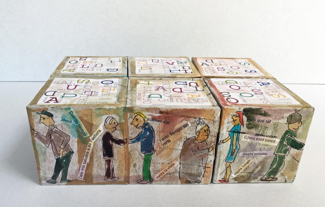Rompecabezas de saludos. Libro de artista |Obra gráfica de Ana Valenciano | Compra arte en Flecha.es
