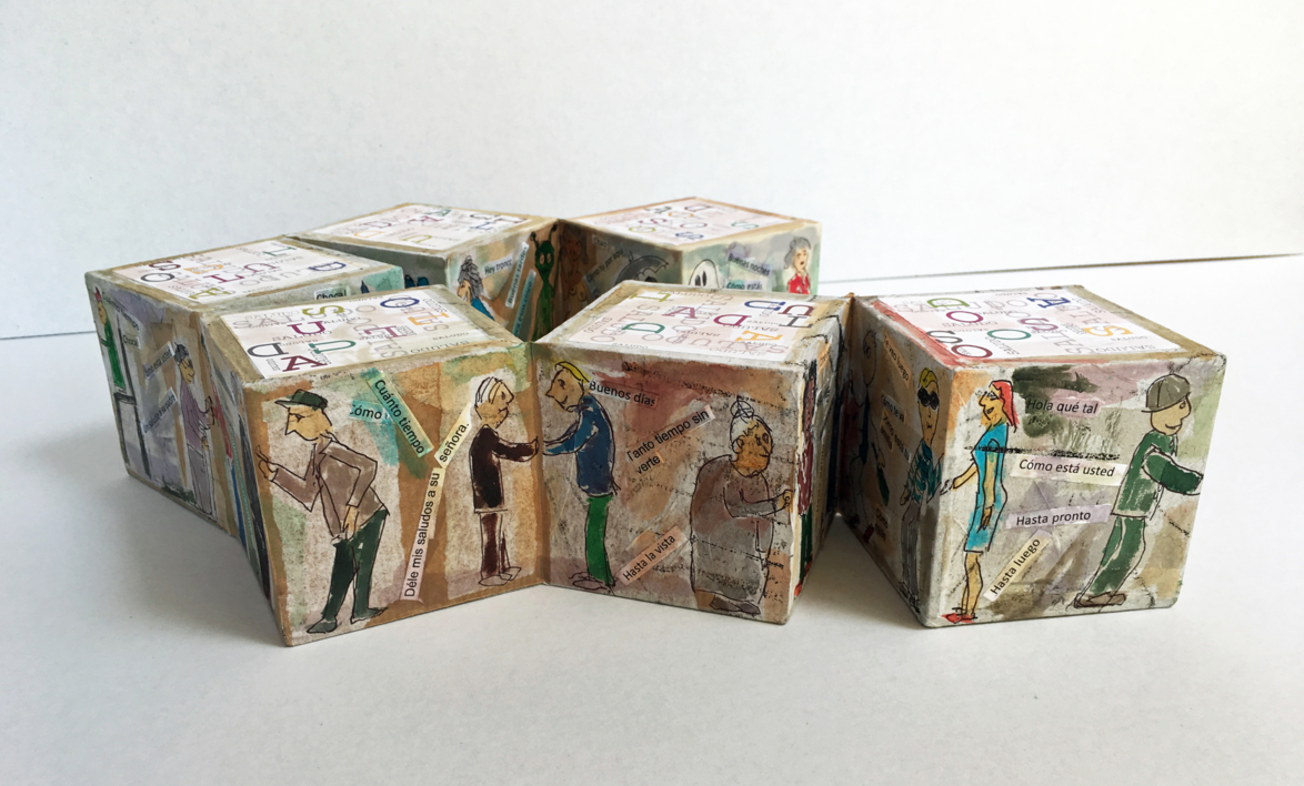 Rompecabezas de saludos. Libro de artista | Obra gráfica de Ana Valenciano | Compra arte en Flecha.es