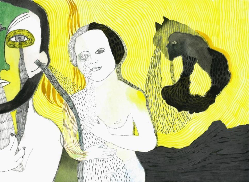 Chorar o diluvio  Dibujo de Reme Remedios   Compra arte en Flecha.es