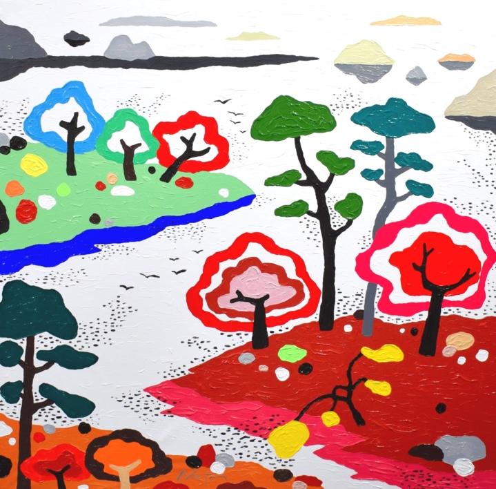 El nuevo santuario |Pintura de ALEJOS | Compra arte en Flecha.es