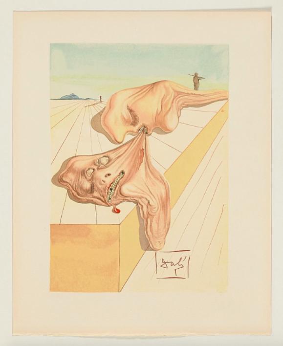 La Divina Comedia. Infierno canto 30 |Obra gráfica de Dalí | Compra arte en Flecha.es
