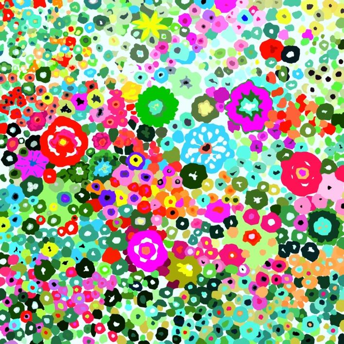 Jardín de flores |Obra gráfica de ALEJOS | Compra arte en Flecha.es