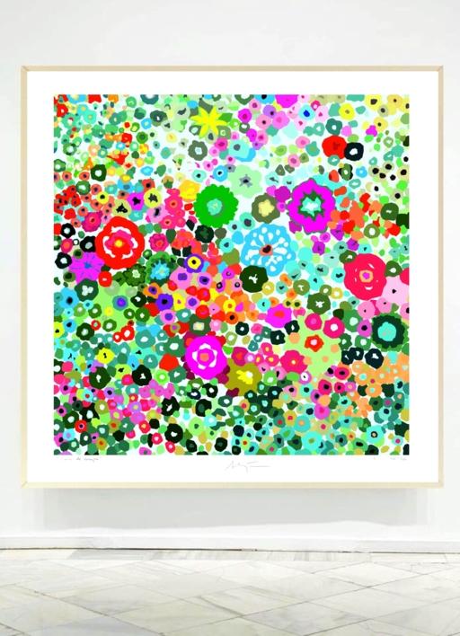Jardín de flores | Obra gráfica de ALEJOS | Compra arte en Flecha.es